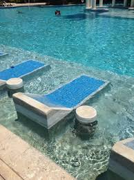Melia Coco Beach Lounge Chairs Built Into The Pool