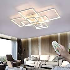 moderne wohnzimmer deckenleuchten led dimmbar rechteckig deckenle weiß 120w mit fernbedienung 8 flammig kreative metall decken licht für