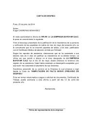 Carta De Despido
