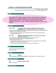 Nursing Resume Objective Examples Elegant Example Sample With Objectives For Nurses