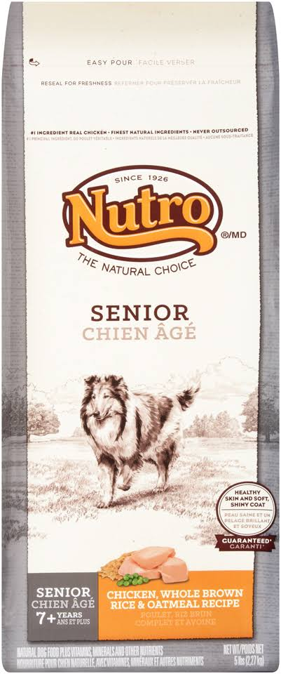 Nutro Senior Chicken Whole Brown Rice and Oatmeal Dog Food - 5lb