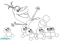 Frozen Olaf Coloring Pages 5