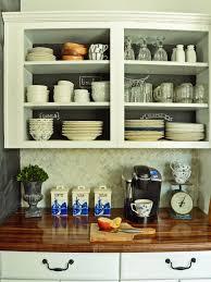 White Open Shelf Kitchen Cabinets