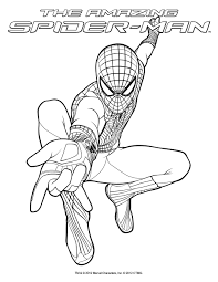 Sweet Design Spider Coloring Pages 2 Man Free For Kids