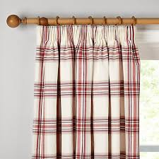 buy john lewis lyndhurst check lined pencil pleat curtains john