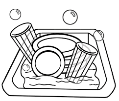 28 Collection Of Washing Dishes Drawing For Kids