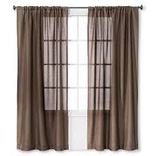 solid metallic window curtain panel blue 54 x84 threshold