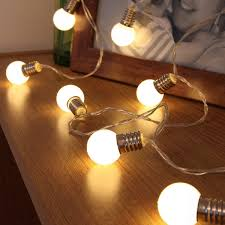 mini festoon string lights battery operated frosted bulb 10