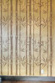 100 Bamboo Walls Stencil Wall Stencil Wallpaper Stencil Furniture Etsy