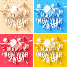 2015 New Year Paper White Background Design