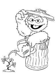 Sesame Street Coloring Pages Free Printable Numbers