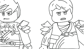 Lego Ninjago Coloring Pages Kai Portraits Download By