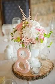 Gorgeous And Soft Centrepiece Filled With Blush Pale Pink Garden Roses Satiable Wooden Wedding CenterpiecesRanunculus