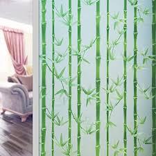 asdfgh bambus statische klarsichtfolie fensterfolie sichtschutz ohne klebstoff entfernbar milchglasfolie dekor fensterfolie fensterfolien für office