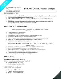 Security Officer Resume Clearance Example Examples Campus Job Description