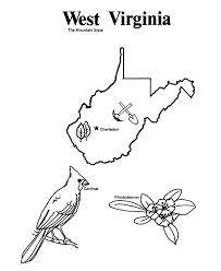 West Virginia State Outline Coloring Page