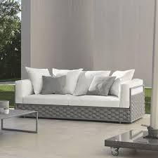 canapé tissu blanc canapé 2 places de jardin by talenti tissu blanc