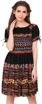 Crease Clips Womens A Line Black Dress