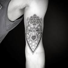 Fantastic Geometric Wolf Tattoos Design
