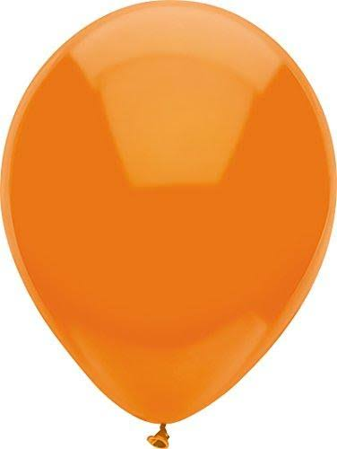 "PartyMate Round Latex Balloon - Bright Orange, 12"", x72"