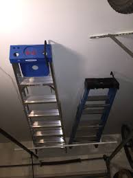 Hyloft Ceiling Storage Unit 30 Cubic Feet by How To Store A Ladder On The Garage Ceiling Like A Pro Diy