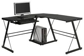 Glass And Metal Corner Computer Desk White by Attractive Glass Computer Desk Corner Computer Desk Black Metal