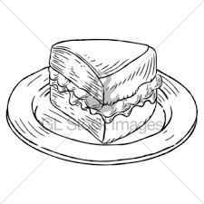 Victoria Sponge Cake Vintage Retro Woodcut Style