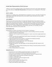 Inside Sales Resume Unique Samples Best 20 Rep Job Description Of Resumes
