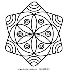 Simple Flower Mandala Pattern For Coloring Book Pages Easy Floral Design To Color Kids