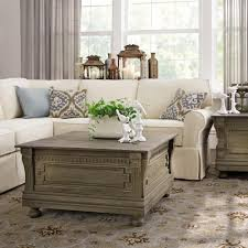 Living Room Table Sets With Storage by Home Decorators Collection Parker Washed Grey Built In Storage