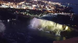 night view picture of skylon tower revolving dining room