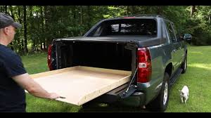 The Simplest DIY Truck Bed Slide For Chevy Avalanche - YouTube