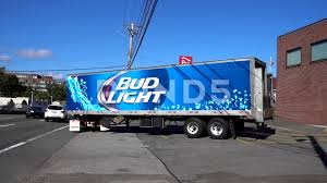 100 Bud Light Truck Video Beer Bottles Delivery Tractor Trailer Truck 81047134