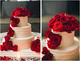 Wedding Cake Flowers Red Roses White Icing Louisville