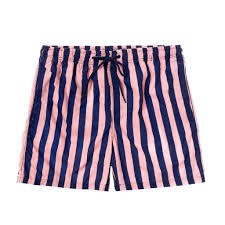 100 Coc Republic O Mens Panel Striped Board Shorts In Pink