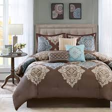 shop madison park monroe brown bed linens the home decorating