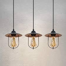 zmh pendelleuchte vintage pendelle schwarz 3 flammig e27 käfig 120cm höhenverstellbar hängele pefekt für esszimmer wohnzimmer restaurant