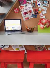 Space Saver Desk Workstation by How To Make A Space Saving Floating Desk Hgtv