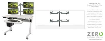 Dual Monitor Standing Desk Attachment by Ergonomic Desk Setup Two Monitors Best Home Furniture Decoration