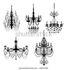 Chandelier Clip Arts Stock Illustration 80617459