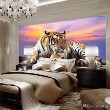 großhandel individuelle fototapeten tiger animal tapeten 3d großes wandbild schlafzimmer wohnzimmer sofa tv hintergrund 3d wandmalereien tapete rolle