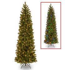 Downswept Douglas Fir 75x27 Pencil Slim Christmas Tree With Dual Color LED