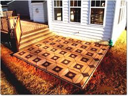 Outdoor Patio Flooring Ideas Deck Concrete Options Stone Design