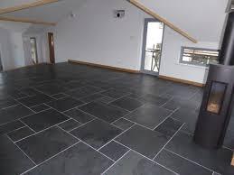 Brushed Black Slate Flooring Modern
