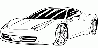 Car Coloring Pages In Sports Printable