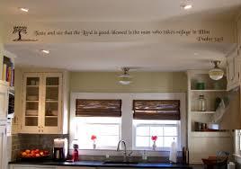 red oak wood black shaker door kitchen soffit decorating ideas