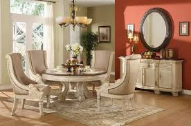 Stylish And Comfy Dining Room With Banquette Bench Classic Design Small Round
