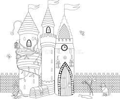 Download Coloring Book For Adult And Older Children Page With D Stock Vector