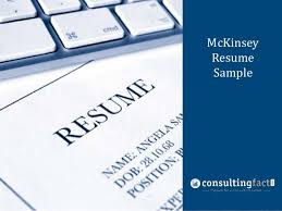 McKinsey Management Resume Consulting Sample