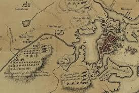 siege concord detail of map depicting the 1775 battles of and concord